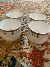 KATE SPADE LENOX DOWNING STREET COFFEE CUPS SET OF 4 EXCELLENT CONDITION