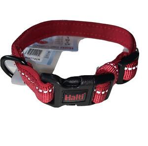 Halti Comfort Adjustable Premium Reflective Small Nylon Dog Puppy Red Collar