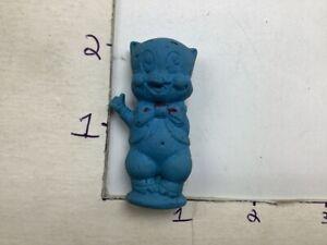 """Vintage DIENER ERASER -- blue PORKY PIG warner bros inc 1971 -- 2"""" tall"""