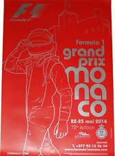 Formula 1 2014 23X16 inches Monaco Monte-Carlo F1 Grand Prix Poster Rosberg Win