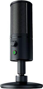 Razer Seiren X   Streaming USB Condenser Microphone   Black   Brand New