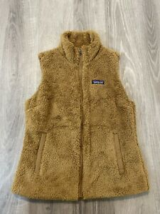 Patagonia Sherpa Deep Pile Poly Fleece Full Zip Lined Sweater Vest Womens Medium