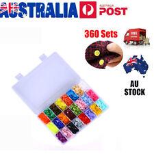 360 Sets KAM Snap Kits Plastic Snaps Fastener Buttons Press Stud Set Size 20 T5