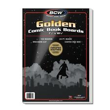 "1 Pack of 100 BCW Golden Age 7 1/2"" Comic Book Storage Backer Boards"