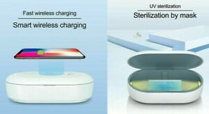 Brand New 10 UV Light Ultraviolet Cell Phone Box +Qi Wireless Charger