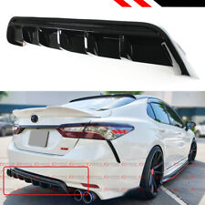 For 2018-2020 Toyota Camry Se Xse Gt Shark Fin Glossy Black Rear Bumper Diffuser