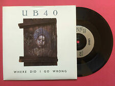 "UB40 - Where Did I Go Wrong, Virgin DEP-30 Ex+ Condition 7"" Single"
