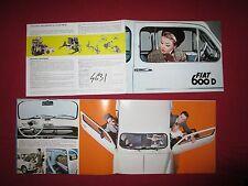 N°4631 /  FIAT 600 D et Multipla  catalogue en français 1964 environ