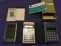 Lot of 3 Vintage Calculators Sharp EL-201S EL-506 H Texas Instruments TI-1750
