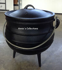 Cast Iron Potjie Pot Cauldron 5 Gal Sz 8 Outdoor Wilderness Survival Dutch Oven