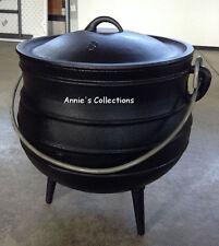 Cast Iron Potjie Pot Cauldron 5 Gal Sz 8 Outdoor Wilderness Survival Dutch Oven