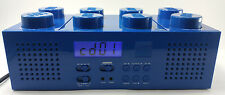 LEGO Blue Brick Boombox with CD player AM/FM Radio Alarm Clock LG 11003 FREE S/H