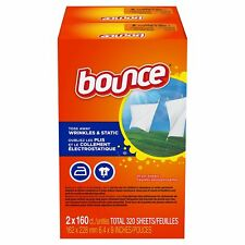 (320 SHEETS) BOUNCE FABRIC SOFTENER DRYER SHEETS OUTDOOR FRESH SCENT