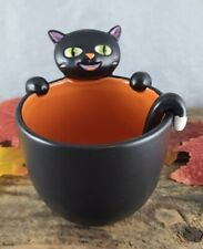 Halloween Black Cat Candy Bowl With Spoon Hallmark