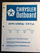 1969 Chrysler Outboard 3.6 HP Parts Catalog 32 33 HA H, manual OB 1152