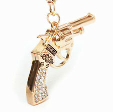 Keychain NEW Keyring Rhinestone Charm Pendant Key Crystal Gun Bag Ring Chain
