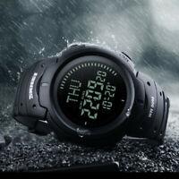 Men Compass Watch Countdown LED Digital Wrist Watch Outdoor Military Wristwatch