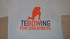 TEBOWING Tim Tebow T-Shirt Kneeling in Prayer Denver Broncos NY Mets Size LARGE