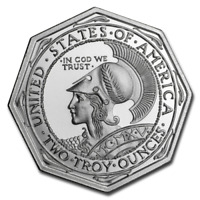 1 - 2 oz .999 Silver Round - Pan-Pacific Octagonal Tribute - High Relief - Unc.