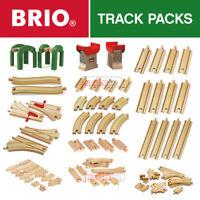 BRIO Wooden Railway Track. All Train Set Track Packs - Full Range - Choose