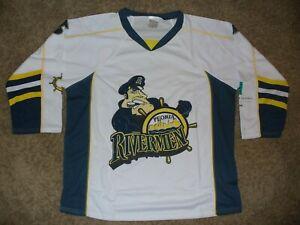AHL Peoria Rivermen SGA Hockey Jersey Adult Size XL Season Ticket Holder Logo