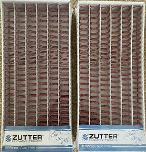 2 x PACKS of 6 Zutter Bind It All O Wires 3/4 Inch Red BULK BUY