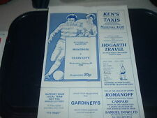 Non-League Football Scottish Fixture Programmes (1980s)