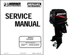 Mercury Mariner 40 / 50 / 55 / 60 (2-Stroke) Outboard Motor Service Manual CD