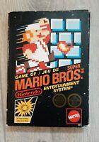 Classic first Mario 1985 for NES, Super Mario Bros , in original packaging , CiB