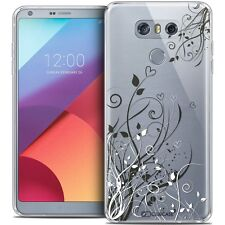 Coque Crystal Gel Pour LG G6 Extra Fine Souple Love Hearts Flowers