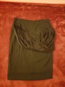 Sharon Wauchob Black Drape pencil skirt Silk Viscose Lycra lined FR 38 UK 10