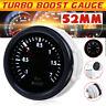Universal 52mm Auto LED Turbo Ladedruckanzeige Zusatz Instrument Weiß LED 12V