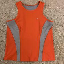 Nike Dri Fit ladies running sports vest in orange/grey - large size