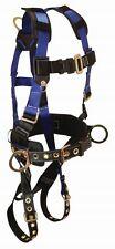 Falltech 70732X 3 D-Ring and Tongue Buckle Leg Strap Harness (2XL)