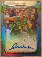 2019-20 Panini Prizm Draft Picks Green Blue /30 Louis King #102 Rookie Auto RC