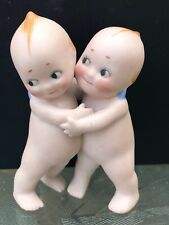 """Rose O'Neill 3 1/2� All Bisque Kewpie """"The Huggers�"""