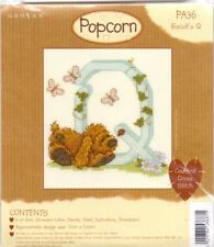 Popcorn Alphabet Counted Cross Stitch Kit PA36 Letter Q