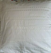 Hotel Collection Embroidered Euro Pillow Sham 100% Cotton NWT