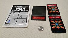Mattel Intellivision Tron Deadly Discs with manual and two (2) overlays