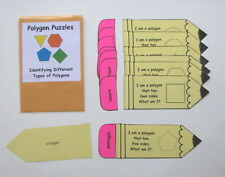 Teacher Made Math Center Educational Learning Resource Game Types of Polygons