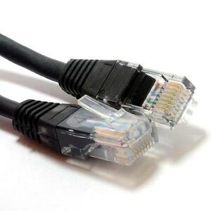 1m Network Ethernet RJ45 Cat5E UTP PATCH Cable Lead Modem Router Switch Black