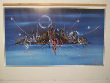 EUROGRAHICS Claus Schenk CS 1045 Silhouette in blau - Bild ohne Rahmen