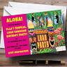 Pink Hawaiian Tropical Luau Personalised Party Invitations
