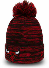 22082179baf New Era NBA Bobble Chicago Bulls On Court Sports Marl Knit Sideline Beanie  Hat
