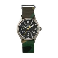 Orologio TIMEX SCOUT T49961CG Tessuto Camouflage Verde Militare Indiglo