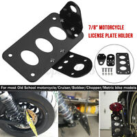 7/8'' 22mm Support de plaque d'immatriculation pour Moto/Cruiser/Bobber/Chopper