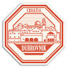 2 x 10cm Dubrovnik Croatia Vinyl Stickers - Travel Sticker Laptop Luggage #18083