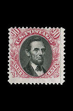 Framed Print - Abraham Lincoln 90 Cent Stamp 1869 Valued at $200,000 (Picture)