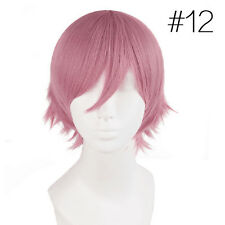 Fashion Male Female Straight Short Hair Wig Cosplay Party Anime Costume FullWigs