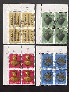 Timbres Suisse pro patria 1972 FDC YT CH901/4. Par 4 se tenant. 2 scans